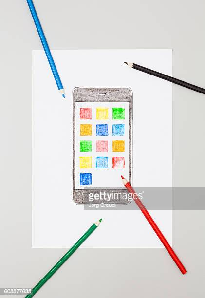 Drawn smartphone
