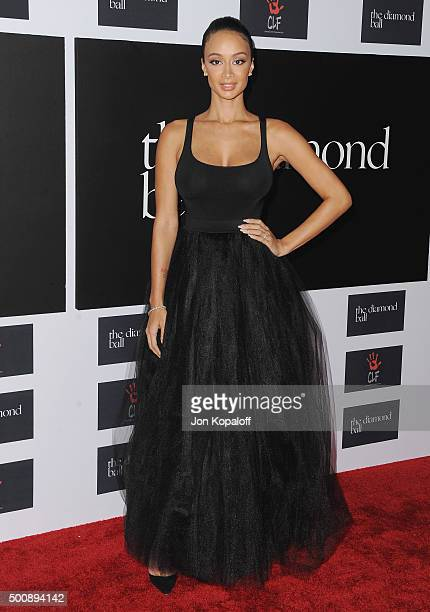 Draya Michele arrives at Rihanna and The Clara Lionel Foundation Host 2nd Annual Diamond Ball at The Barker Hanger on December 10 2015 in Santa...