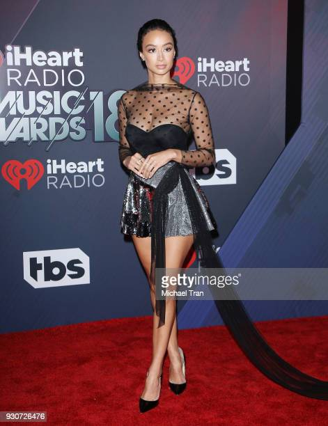 Draya Michele arrives to the 2018 iHeartRadio Music Awards held at The Forum on March 11 2018 in Inglewood California
