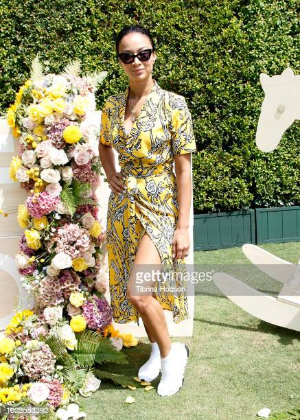 Draya Michele attends a Back-To-School block party at The Park at The Grove on August 25, 2018 in Los Angeles, California.