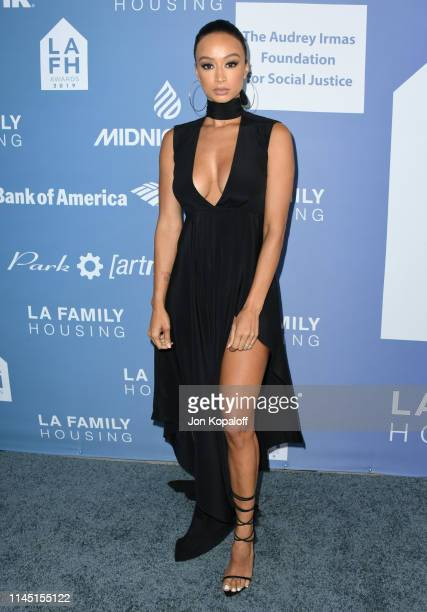 Draya Michele attends LA Family Housing Annual LAFH Awards And Fundraiser Celebration at The Lot on April 25 2019 in West Hollywood California