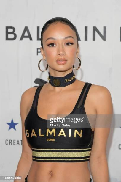 Draya Michele attends PUMA x Balmain created with Cara Delevingne LA Launch Event at Milk Studios on November 21, 2019 in Los Angeles, California.