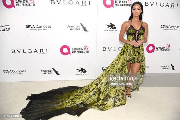 Draya Michele attends the 26th annual Elton John AIDS Foundation Academy Awards Viewing Party sponsored by Bulgari celebrating EJAF and the 90th...