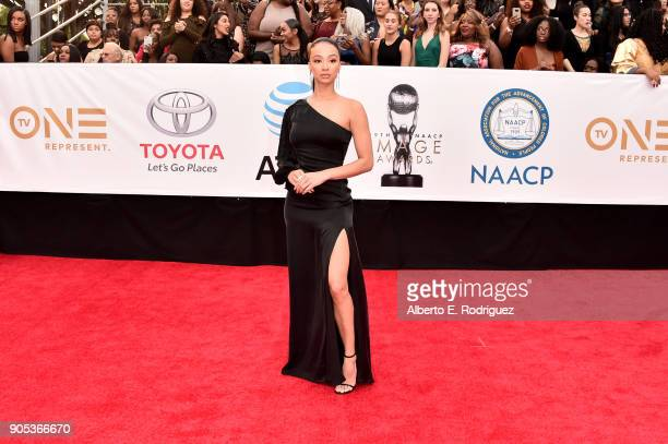 Draya Michele attends the 49th NAACP Image Awards at Pasadena Civic Auditorium on January 15 2018 in Pasadena California