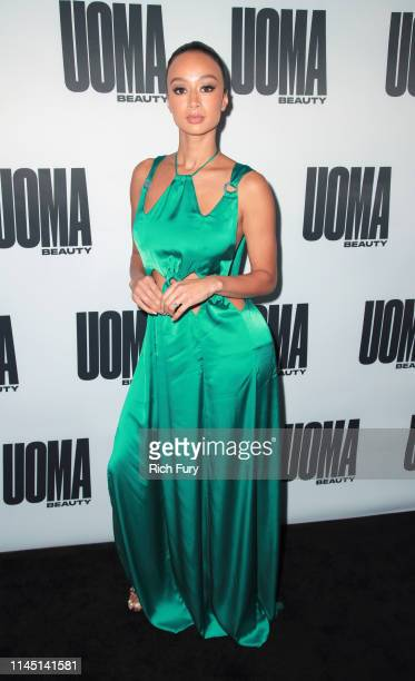 Draya Michele attends the House of Uoma's launch of the Uoma Beauty makeup brand at NeueHouse Hollywood on April 25 2019 in Los Angeles California