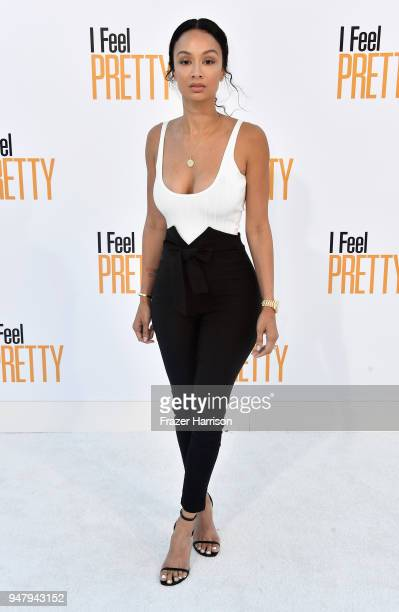 Draya Michele attends the premiere of STX Films' I Feel Pretty at Westwood Village Theatre on April 17 2018 in Westwood California