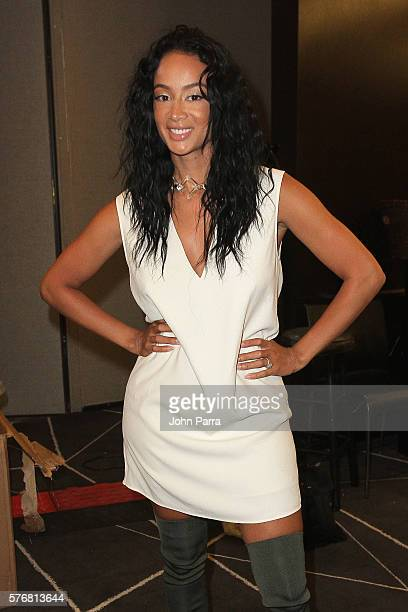 Draya Michele poses backstage at the Mint Swim 2017 Collection at SwimMiami at The W Hotel South Beach on July 17 2016 in Miami Florida