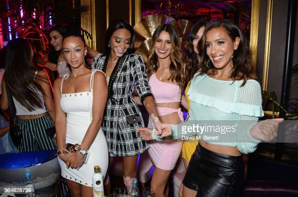 Draya Michele Winnie Harlow Madison Grace Victoria Justice and Julissa Bermudez attend the REVOLVE 'LA Party In London' hosted by Winnie Harlow at...