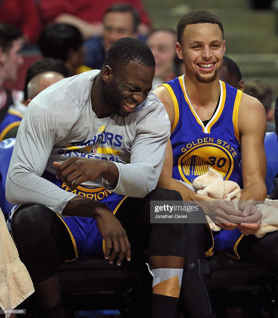 Draymond Green And Stephen Curry Of The Golden State