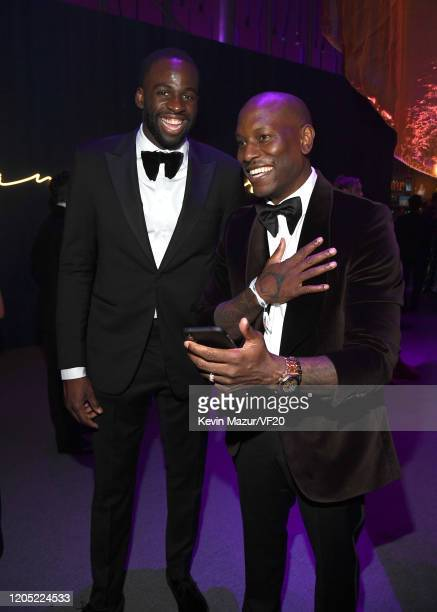Draymond Green and Tyrese Gibson attend the 2020 Vanity Fair Oscar Party hosted by Radhika Jones at Wallis Annenberg Center for the Performing Arts...