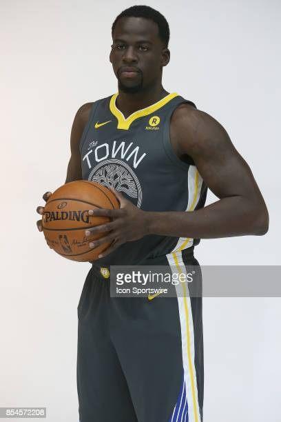 Draymond Green appears at the Golden State Warriors media day on on September 22 2017 at the Rakuten Performance Center in Oakland CA