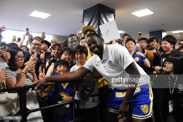 Draymond Green of Golden State Warriors poses for a photograph during a fan Meeting event ahead of the B.League Early Cup Kanto 3rd Place Game...