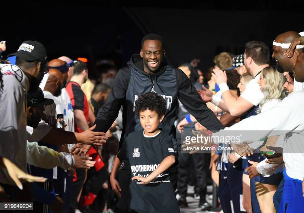 Draymond Green of Team Stephen is introduced for practice at the Verizon Up Arena at LACC on February 17 2018 in Los Angeles California NOTE TO USER...