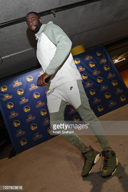 Draymond Green of the Golden State Warriors arrives for the game on March 1 2020 at Chase Center in San Francisco California NOTE TO USER User...
