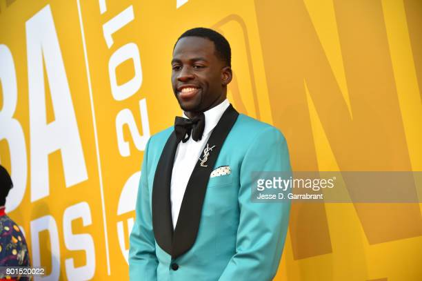 Draymond Green of the Golden State Warriors arrives on the red carpet during the 2017 NBA Awards Show on June 26 2017 at Basketball City in New York...
