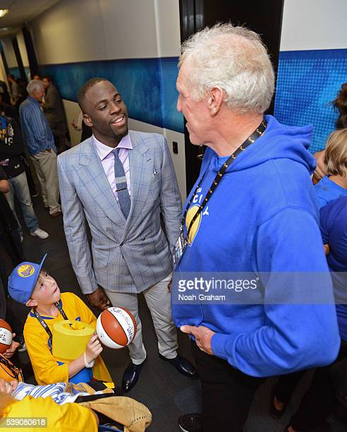 Draymond Green of the Golden State Warriors before facing the Cleveland Cavaliers for Game Two of the 2016 NBA Finals on June 5 2016 at ORACLE Arena...