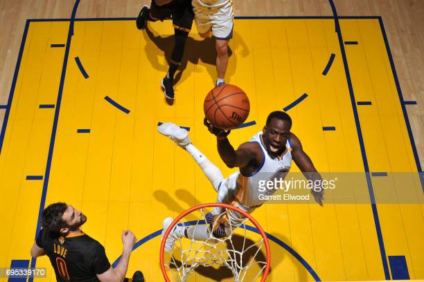 Draymond Green of the Golden State Warriors drives to the basket against the Cleveland Cavaliers in Game Five of the 2017 NBA Finals on June 12 2017...