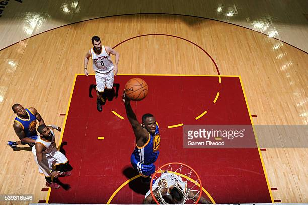 Draymond Green of the Golden State Warriors dunks against the Cleveland Cavaliers during Game Four of the 2016 NBA Finals on June 10 2016 at Quicken...