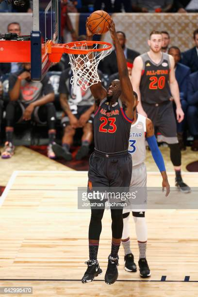 Draymond Green of the Golden State Warriors dunks the ball in the first half of the 2017 NBA AllStar Game at Smoothie King Center on February 19 2017...