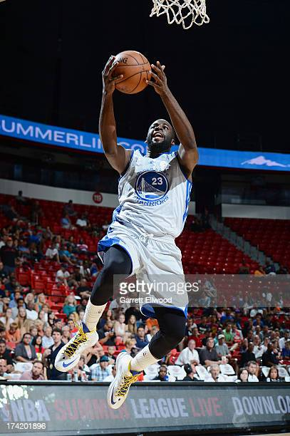 Draymond Green of the Golden State Warriors goes to the basket during NBA Summer League game between the Charlotte Bobcats and the Golden State...