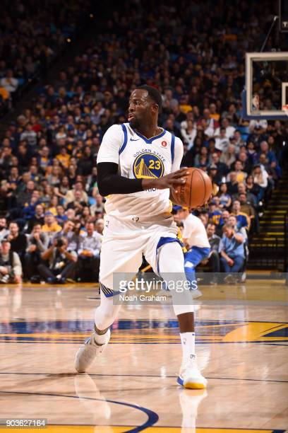 Draymond Green of the Golden State Warriors handles the ball against the LA Clippers on January 10 2018 at ORACLE Arena in Oakland California NOTE TO...