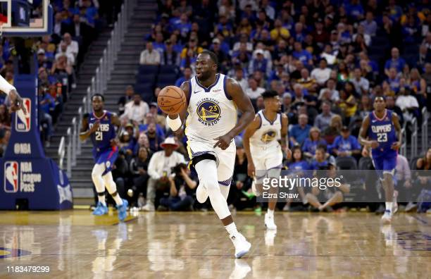 Draymond Green of the Golden State Warriors in action against the LA Clippers at Chase Center on October 24, 2019 in San Francisco, California. NOTE...