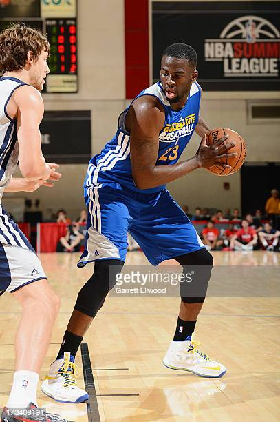 Draymond Green of the Golden State Warriors looks to drive to the basket against the Washington Wizards during NBA Summer League on July 13 2013 at...