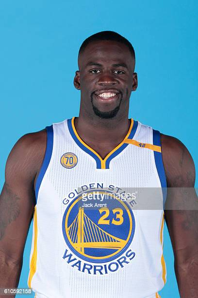 Draymond Green of the Golden State Warriors poses for a head shot during the 20162017 Media Day on September 26 2016 at the Warriors practice...