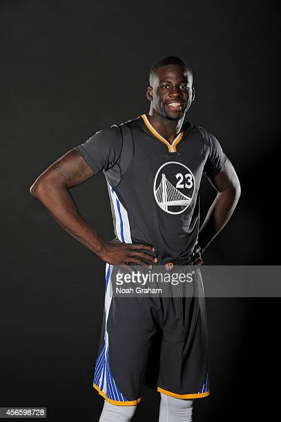 Draymond Green of the Golden State Warriors poses for media day photos on September 29 2014 at the Warriors practice facility in Oakland California...