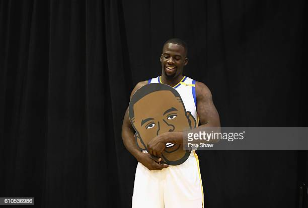 Draymond Green of the Golden State Warriors poses for the Warriors social media team during the Golden State Warriors Media Day at the Warriors...