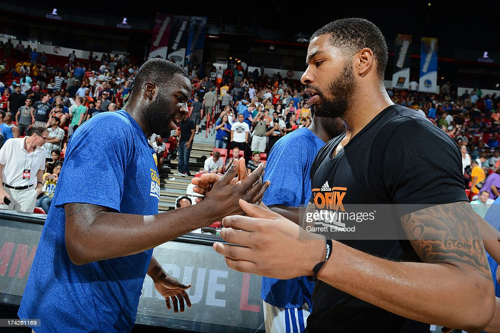 Draymond Green #23 of the Golden State Warriors shakes hands after the game against the Phoenix Suns during NBA Summer League Championship Game on July 22, 2013 at the Cox Pavilion in Las Vegas, Nevada.