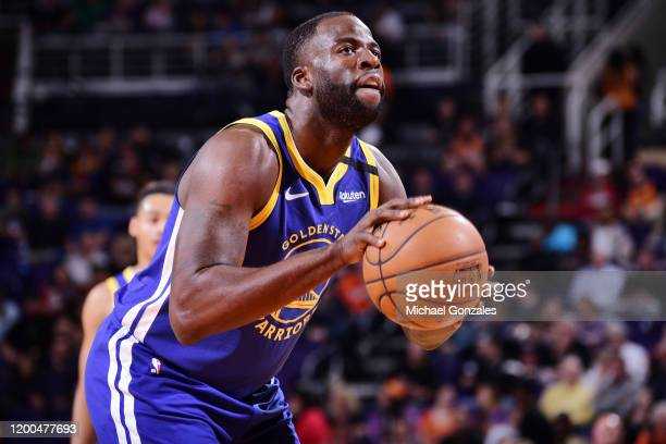 Draymond Green of the Golden State Warriors shoots a free throw during the game against the Phoenix Suns on February 12 2020 at Talking Stick Resort...