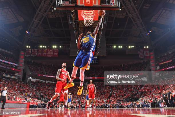 Draymond Green of the Golden State Warriors shoots the ball against the Houston Rockets during Game Four of the Western Conference Semifinals of the...