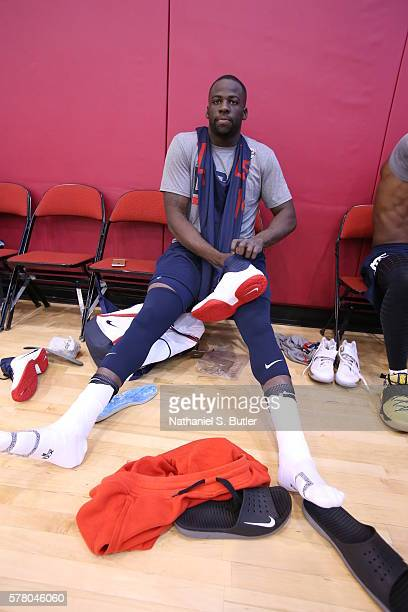 Draymond Green of the USA Basketball Men's National Team prepares for practice on July 18 2016 at Mendenhall Center on the University of Nevada Las...
