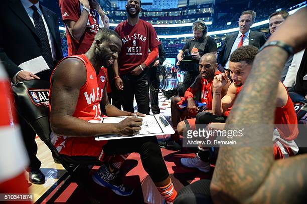 Draymond Green of the Western Conference draws out a play during the game against the Eastern Conference at the NBA AllStar Game as part of 2016 NBA...
