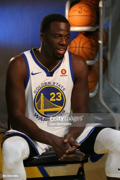 Draymond Green poses for a portrait at the Golden State Warriors media day September 22 2017 at the Rakuten Performance Center in Oakland CA