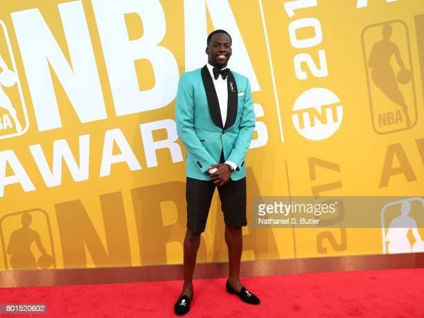 Draymond GreenD arrives at the red carpet at the NBA Awards Show on June 26 2017 at Basketball City at Pier 36 in New York City New York NOTE TO USER...
