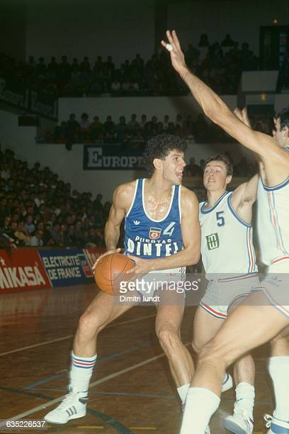 Drazen Petrovic from Yugoslavia during a game against France Petrovic nicknamed Mozart of basketball died in a car accident on June 1993 four and a...