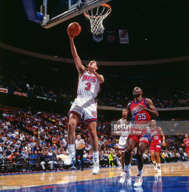 b672ed94f Drazen Petrovic of the New Jersey Nets shoots a lay up during the game against  the