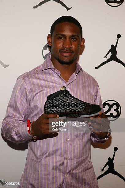Dre Bly of the Denver Broncos on the red carpet at the Jordan Brand House of 23 event celebrating the launch of the Air Jordan 23 during AllStar...