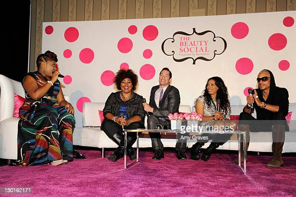 Dre Brown, Patrice Grell Yursik, Jeffrey Paul, Nyssa Green and Sean Cameron attend The Beauty Social Presented by Beautylish - Day2 at the Loews...