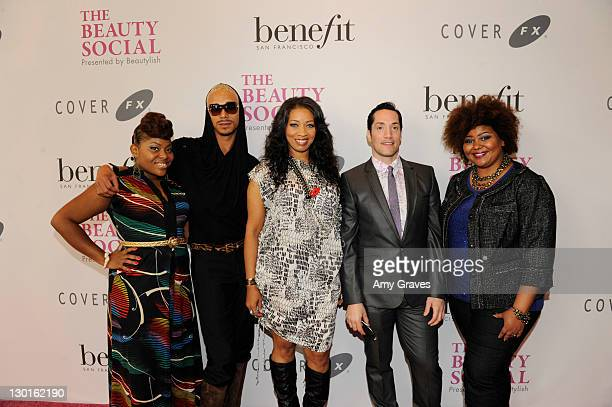 Dre Brown, Sean Cameron, Nyssa Green, Jeffrey Paul and Patrice Grell Yursik attend The Beauty Social Presented by Beautylish - Day2 at the Loews...