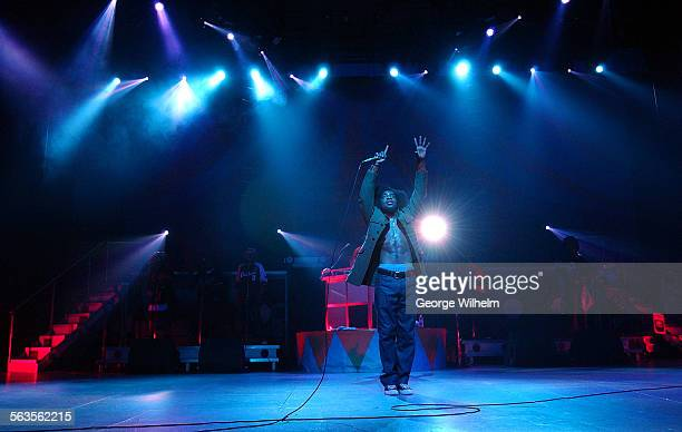 Dre of the group Outkast performs at the Smokin Grooves Tour 2002 at the Universal Amphitheatre