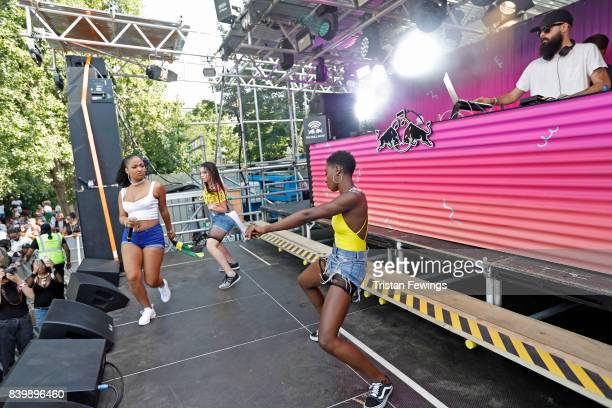 Dre Skull performs at the 'Red Bull Music Academy Soundsystem' at Notting Hill Carnival 2017 on August 27 2017 in London England