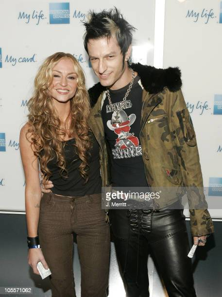 Drea de Matteo and guest during American Express Jam Sessions at the House of Blues with Kid Rock Arrivals at House of Blues in Hollywood California...
