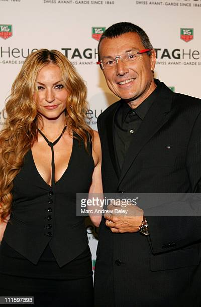 Drea de Matteo and JeanChristophe Babin during Tag Heuer Party to Celebrate Women and Unsem Arrivals September 12 2006 at The Royalton in New York...