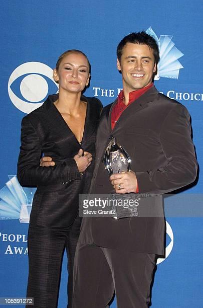 Drea De Matteo and Matt LeBlanc during 31st Annual People's Choice Awards Press Room at Pasadena Civic Auditorium in Pasadena California United States