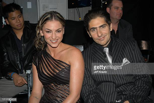 Drea de Matteo and Michael Imperioli during VH1 Big in 2002 Awards Backstage and Audience at Grand Olympic Auditorium in Los Angeles CA United States