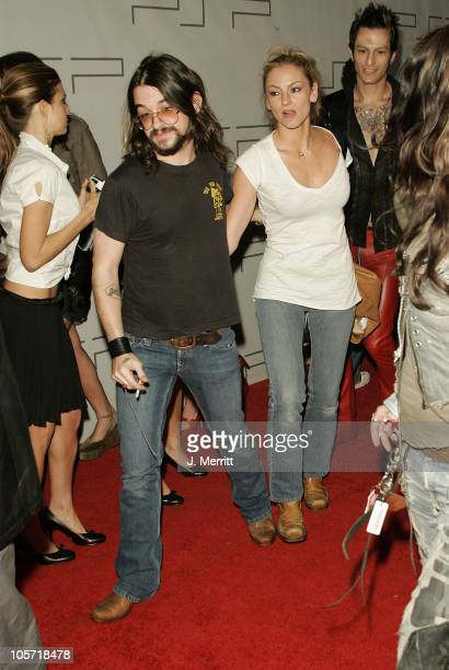 Drea de Matteo and Shooter Jennings during PSP North American Launch Party and Fashion Show at The Pacific Design Center in West Hollywood California...