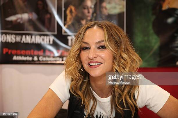Drea de Matteo attends the 2014 Motor City Comic Con at Suburban Collection Showplace on May 16 2014 in Novi Michigan